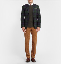 Polo Ralph Lauren Tartan Wool and Cashmere-Blend Blazer
