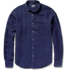 Hartford Garment-Dyed Linen Shirt
