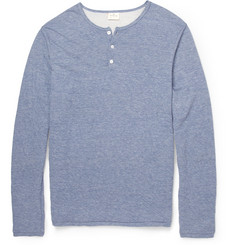 Hartford Cotton-Blend Henley T-Shirt