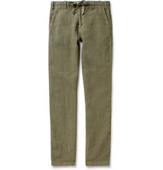 Hartford Troy Regular-Fit Linen Trousers