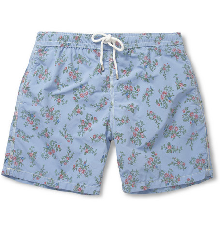 Hartford Flower-Print Mid-Length Swim Shorts