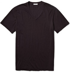 James Perse Crew Neck Cotton-Jersey T-Shirt