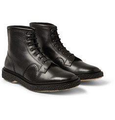 Adieu Type 22 Crepe-Sole Leather Brogue Boots