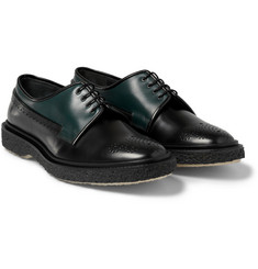 Adieu Type 27 Crepe-Soled Polished-Leather Brogues