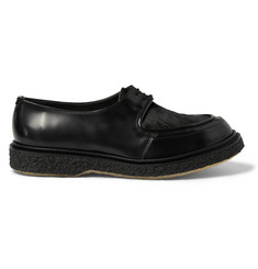 Adieu Type 28 Leather and Calf Hair-Panelled  Derby Shoes