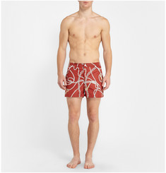 Robinson les Bains Printed Oxford Express Mid-Length Swim Shorts