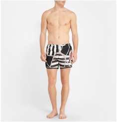 Robinson les Bains Printed Cambridge Long Swim Shorts