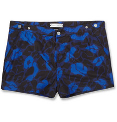 Robinson les Bains Printed Oxford Court Short-Length Swim Shorts