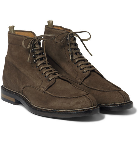 Officine Creative Lace-Up Suede Boots