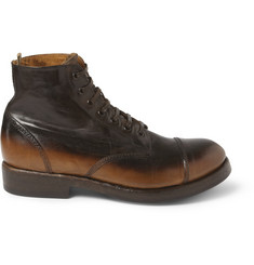Officine Creative Lowry Burnished-Leather Lace-Up Boots