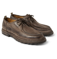 Officine Creative Voltaire Burnished-Leather Derby Shoes