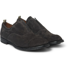 Officine Creative Anatomia Laceless Suede Oxford Shoes