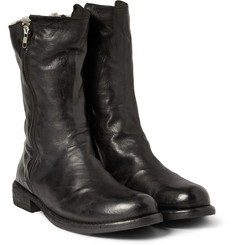 Officine Creative Ikon Shearling Lined Leather Biker Boots