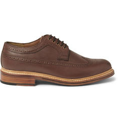 Grenson Sid Burnished-Leather Longwing Brogues