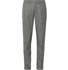 Todd Snyder Grey Slim-Fit Houndstooth Cotton and Wool-Blend Trousers