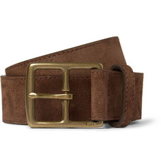 Polo Ralph Lauren Brown 3.5cm Suede Belt