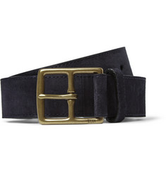 Polo Ralph Lauren Navy 3.5cm Suede Belt