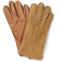 Polo Ralph Lauren Shearling and Leather Gloves