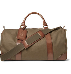 Polo Ralph Lauren Leather-Trimmed Canvas Holdall Bag