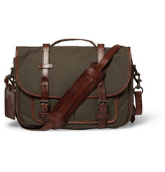 Polo Ralph Lauren Canvas and Leather Messenger Bag