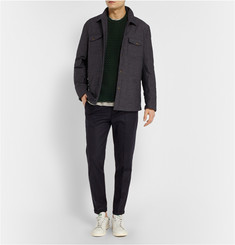 NN.07 Soho Slim-Fit Cropped Wool-Blend Trousers