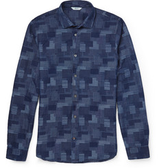 NN.07 Lindh Slim-Fit Denim-Jacquard Shirt