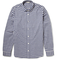 NN.07 Lindh Gingham Check Brushed-Cotton Shirt