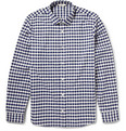 NN07 - Lindh Gingham Check Brushed-Cotton Shirt