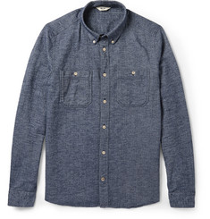 NN.07 Elliot Herringbone Cotton-Flannel Shirt