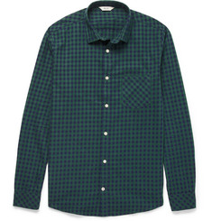 NN.07 Frede Gingham-Check Cotton Shirt