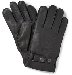 NN.07 Wool-Blend Lined Full-Grain Leather Gloves