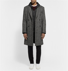 Public School Herringbone-Woven Wool and Cotton-Blend Overcoat