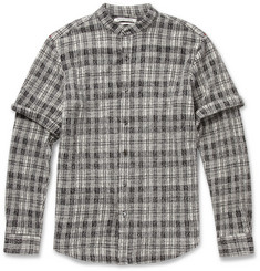 Public School Check Textured-Wool Shirt