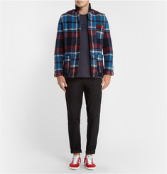 Tomorrowland Jacquard-Knit Plaid Wool Jacket