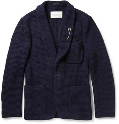 Tomorrowland Knitted Wool-Blend Shawl-Collar Blazer