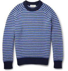 Tomorrowland Patterned Wool and Cashmere-Blend Sweater