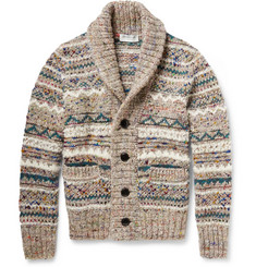 Tomorrowland Fair Isle Knitted Shawl-Collar Cardigan