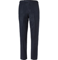 Ovadia & Sons Slim-Fit Houndstooth Wool Suit Trousers