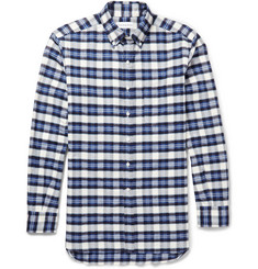 Ovadia & Sons Plaid Brushed-Cotton Shirt