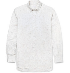 Ovadia & Sons Flecked Herringbone Cotton Shirt