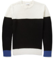 Ovadia & Sons Textured-Knit Wool-Cashmere Sweater