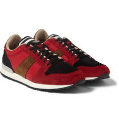 AMI Suede and Mesh Panelled Sneakers