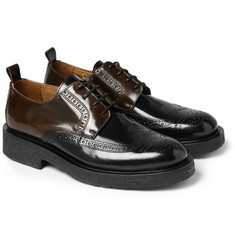 AMI Two-Tone Polished-Leather Brogues