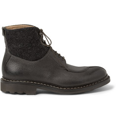 Heschung Gingko Leather and Wool Boots