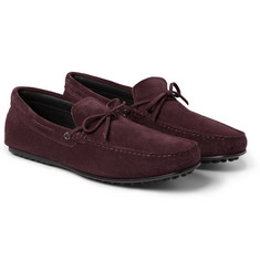 Tod's Gommino Winter Sole Suede Driving Shoes