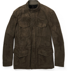 Loro Piana Shearling-Lined Suede Jacket
