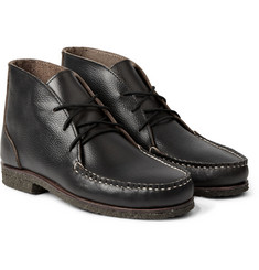 Quoddy Wabanaki Crepe-Sole Grained-Leather Chukka Boots