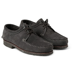 Quoddy Tukabuk Crepe-Sole Suede Boat Shoes