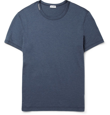 Dolce & Gabbana Crew Neck Cotton-Jersey T-Shirt