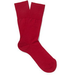 Falke Airport Wool and Cotton-Blend Socks